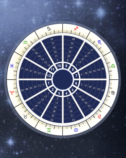 Profections Wheel, Annual Profections, Astrology Online Calculator